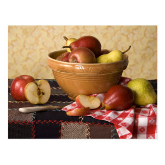 3933 Bowl of Apples & Pears Still Life Postcard