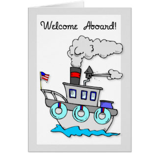 3939 New Employee Welcome Aboard Ship Card
