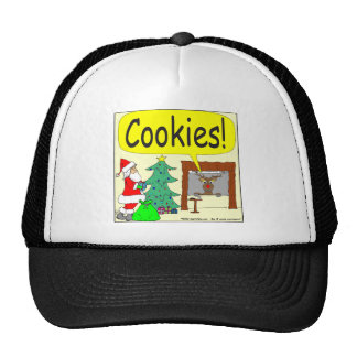 393 santa cookies cartoon trucker hat