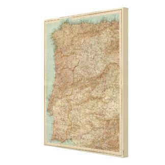 3940 Spain, Portugal ouest Canvas Print