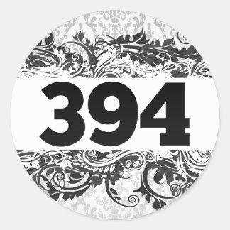 394 PEGATINA REDONDA