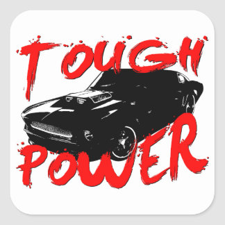 394 Tough Power Mustang Square Sticker