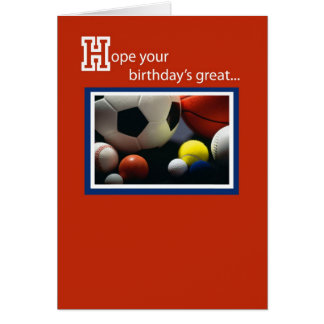 3968 Birthday All Sports Greeting Card