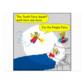 396 pimple fairy cartoon postcard