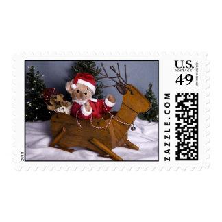 3975 Teddy Bear Santa Christmas Postage