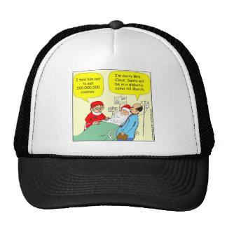 397 Santa cookie coma cartoon Trucker Hat