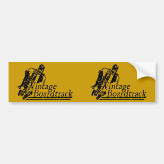 397 Vintage Boardtrack Car Bumper Sticker