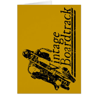 397 Vintage Boardtrack Greeting Card