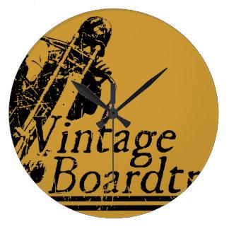 397 Vintage Boardtrack Large Clock