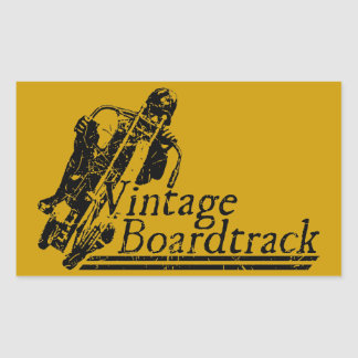 397 Vintage Boardtrack Rectangular Sticker