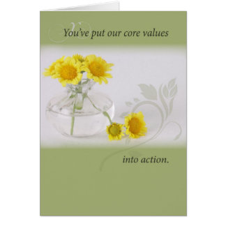 3982 Employee Recognition, Yellow Flowers Greeting Card