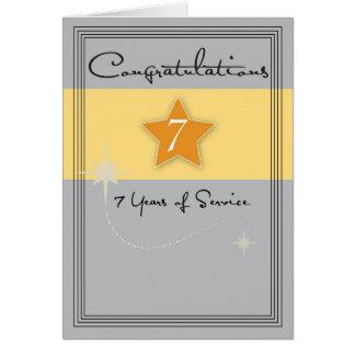 3989_7 Year Employee Anniversary Card