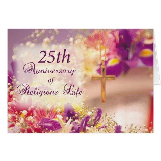 Th anniversary religious life celebration card zazzle