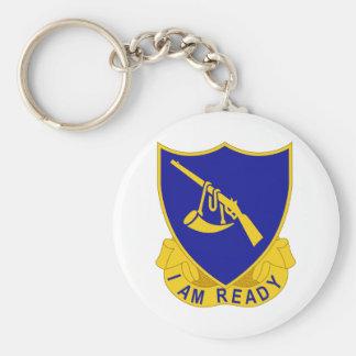 399 Regiment , 100 Inf. Div Basic Round Button Keychain