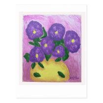 [ 39-1] Purple Bouquet Postcard