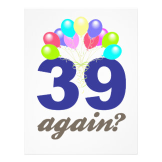 39 Again? Birthday Gifts / Souvenirs Flyer