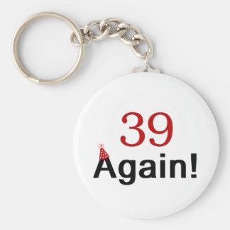 39 Again Basic Round Button Keychain