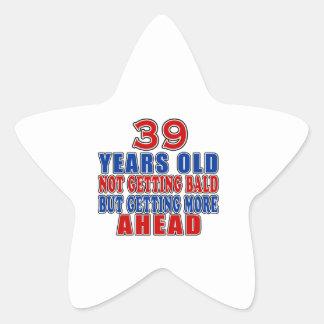 39 Ahead Birthday Designs Star Sticker