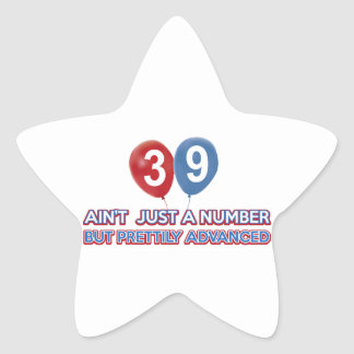 39 aint just a number star sticker