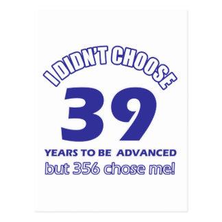 39 años de adelanto postales