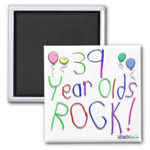 ¡39 años de la roca! imán de frigorífico