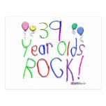 ¡39 años de la roca! postales