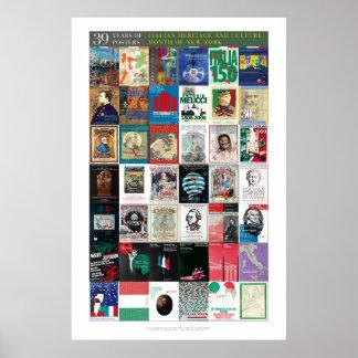 39 años de poster italiano de la cultura