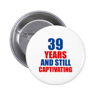 39 birthday design button