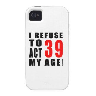 39 birthday design vibe iPhone 4 cover