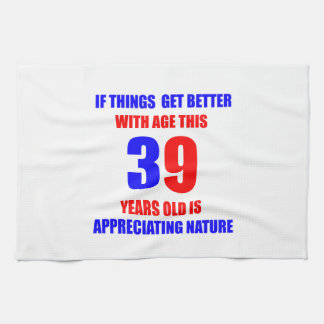 39 Birthday Design Hand Towel