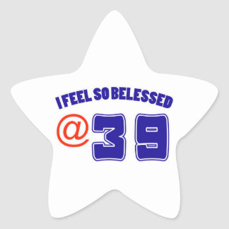 39 Birthday Design Star Sticker