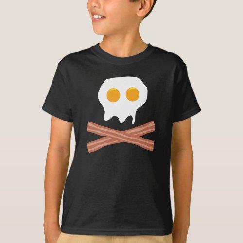 39 Eggs Bacon Skull T_Shirt