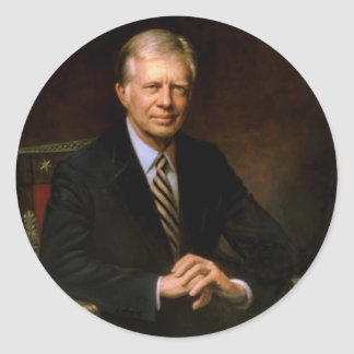 39 Jimmy Carter Classic Round Sticker