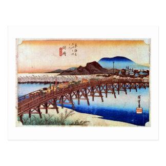 39. Okazaki inn, Hiroshige Postcard