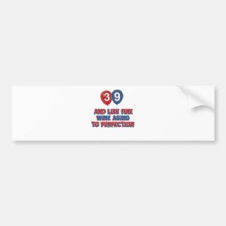 39.os diseños años del cumpleaños pegatina para auto