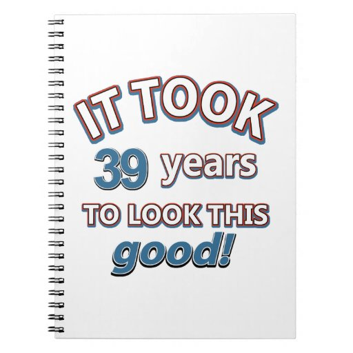 39.os diseños del cumpleaños del año libros de apuntes con espiral