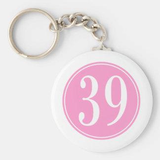 #39 Pink Circle Keychains