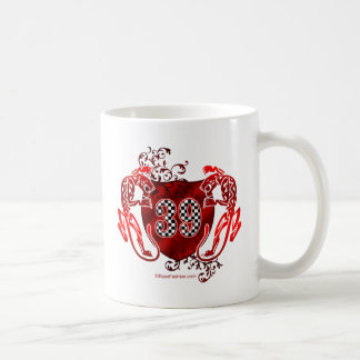 39 racing number coffee mug