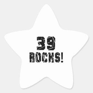 39 Rocks Birthday Designs Star Sticker