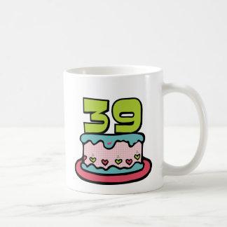 39 Year Old Birthday Cake Classic White Coffee Mug