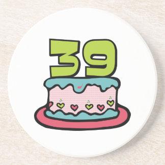 39 Year Old Birthday Cake Coaster