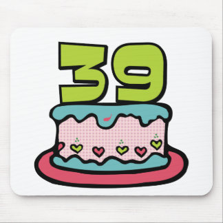 39 Year Old Birthday Cake Mousepads