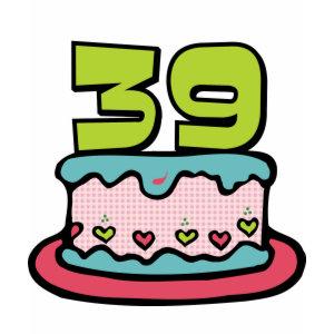 39 Year Old Birthday Cake shirt