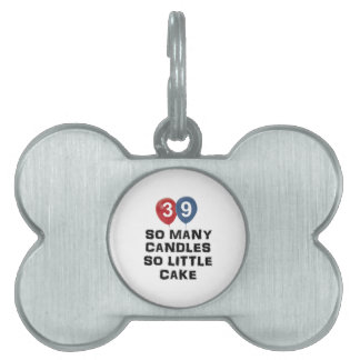 39 year old candle designs pet tags