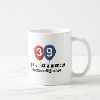 39 year old nothing but a number designs coffee mug