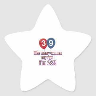 39 year old women designs star sticker