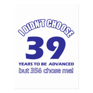 39 years advancement postcard