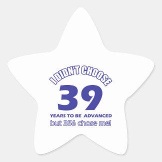 39 years advancement star sticker