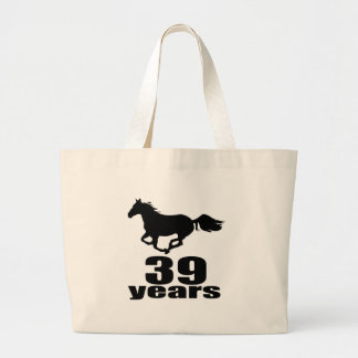 39 Years Birthday Designs Large Tote Bag