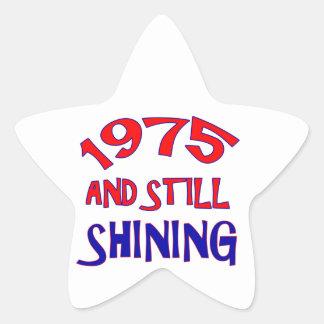 39 years Old birthday designs Star Sticker